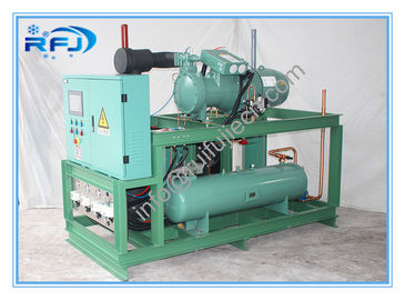China Single Screw Type Compressor Refrigeration Condensing Units / Refrigerator Cooling Unit supplier