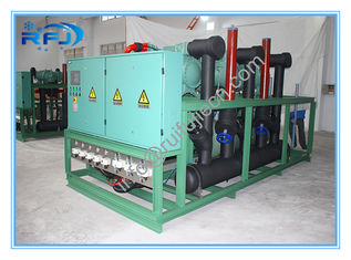 High Temperature Air Cooled Condensing Unit For Blast Freezer , Three Screw Compressor Rack