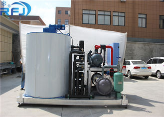 China 2T Industrial Ice Maker , Powder Less Flake Ice Making Machine CE Certificated supplier