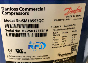China Danfoss performer 60Hz Scroll Refrigeration Compressor  SM185S3QC supplier