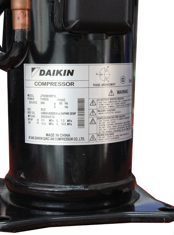R22 3PH  50HZ JT90BHBY1L Daikin Refrigeration Scroll Compressor Air Conditionary Use