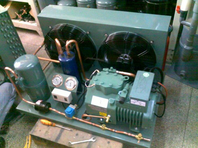 Semi-hermetic  50HP R404a Bitzer condenser Unit 6FE-50Y for freeze room