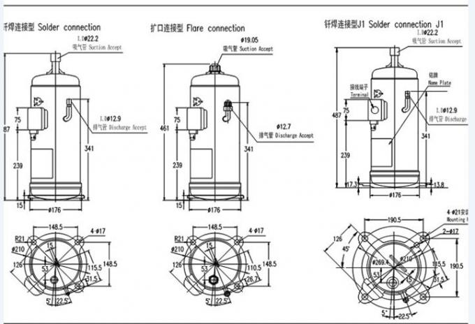 r410a hitachi scroll compressor , hermetic refrigeration ... hitachi air conditioner wiring diagram