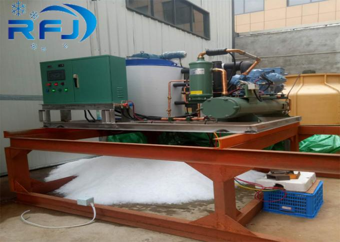 1-30 Tons Large ScaIe Flake Ice Machine Medium Size Stainless Steel 304 Material