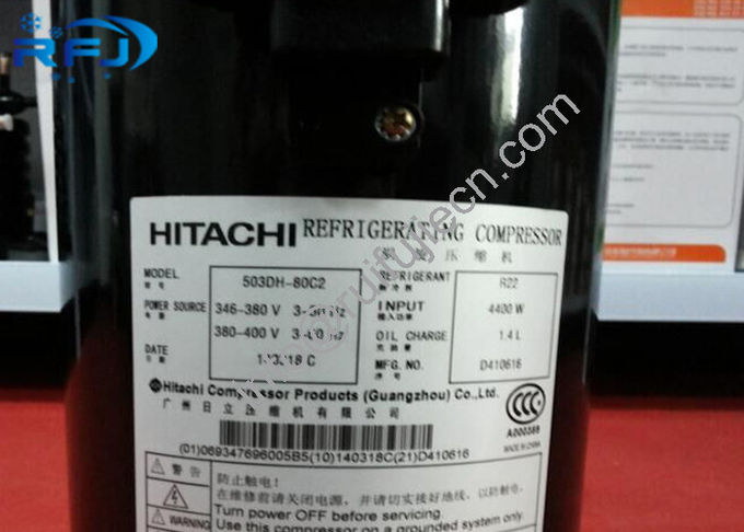 60Hz Hitachi Scroll Compressor 503DH-80B2 , 3 phase refrigerator compressor replacement