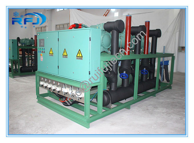 Single Screw Type Compressor Refrigeration Condensing Units / Refrigerator Cooling Unit