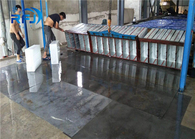 Commercial Round Block Ice Machine 3 Tons Capacity Aliminium Plate Ice Moulds Material