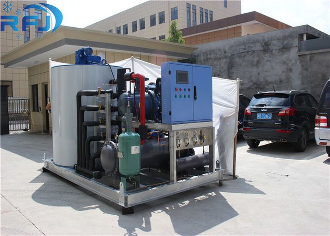 Marine Water Flake Ice Machine Refrigeration Equipment Stainless Steel Generator