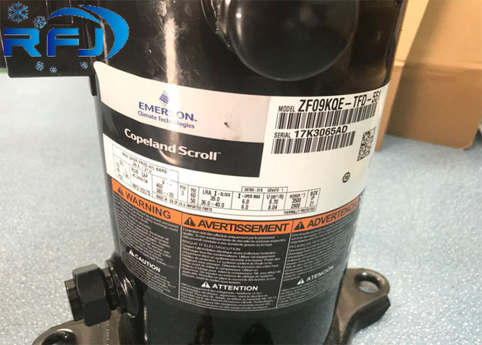 ZSI21KQE R404a Copeland 7HP Refrigeration Scroll Compressor Air Cooling Rotary Type