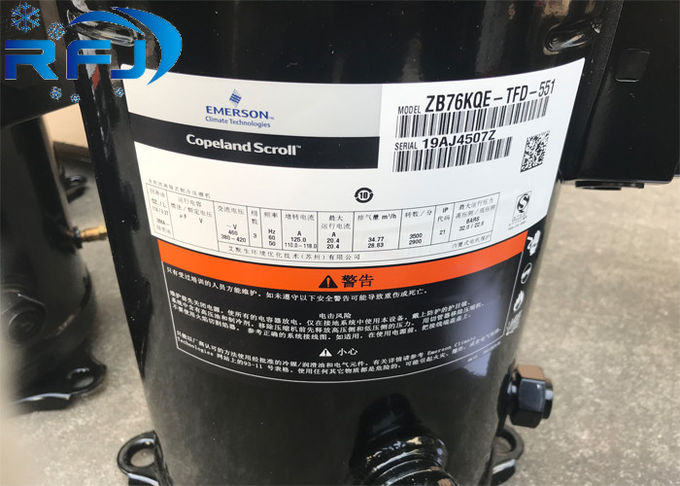 ZB Scroll Medium Temp Refrigeration Scroll Compressor 3PH 10hp ZB76KCE-TFD 551 For Chiller